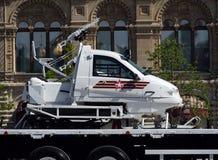 Armésnövessla TTM-190-40 på ståta i heder av segerdagen på röd fyrkant Fotografering för Bildbyråer