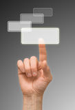 Arm. One finger push (press) on button Stock Images