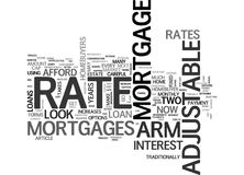 Arm Adjustable Rate Mortgages Word Cloud Stock Photos