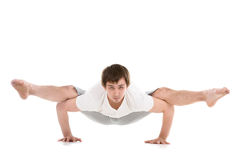 Arm balance Firefly posture Royalty Free Stock Photo