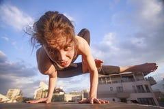 Arm balance stock photography