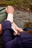 Arm Bandage Stock Photo