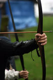 Arm and bow Stock Image