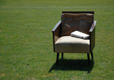 Arm-chair. On with newspaper Royalty Free Stock Photos