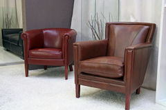 Arm chair. Leather arm chairs Stock Photo