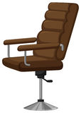 Arm chair with brown leather Stock Photography
