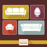 Arm_chair_ICONS_2 Image libre de droits