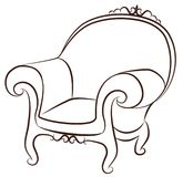 Arm-chair for vintage interior Royalty Free Stock Photography