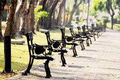 Arm Chairs in Suan Louhng Park Rama 9 in Bangkapi District, Thai Stock Images
