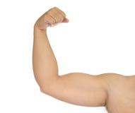 Arm des starken Mannes lokalisiert Lizenzfreie Stockfotografie