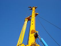 Arm drilling machinery. The arm of drilling machinery Royalty Free Stock Photos