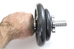 Arm with dumbbells Stock Image