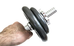 Arm with dumbbells Stock Photography