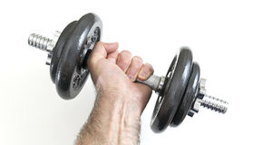Arm with dumbbells Royalty Free Stock Images
