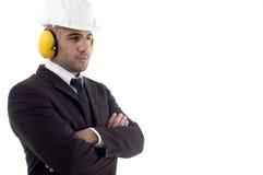 arm earplugs engineer folded wearing Στοκ Εικόνες