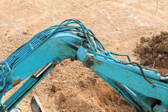 Arm of excavator tractor working Royalty Free Stock Image