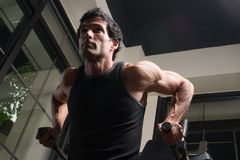 arm exercising man muscles Στοκ εικόνα με δικαίωμα ελεύθερης χρήσης