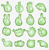 Arm finger sign symbol green Royalty Free Stock Image