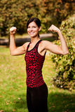 Arm Flex Fitness Stock Photo