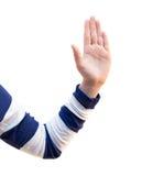 Arm, hand, fingrar och vårtor Royaltyfri Fotografi