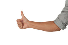 Arm with hand giving a thumbs up Stock Images