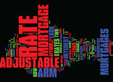 Arm justierbarer Rate Mortgages Word Cloud Concept Stockbild
