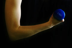 Arm lifting hand weight Royalty Free Stock Photography