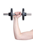Arm lifting weight Stock Image