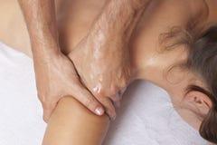 Arm massage Stock Photos