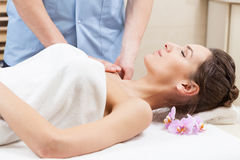 Arm massage in spa Stock Images