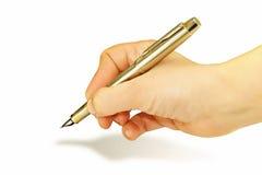 Arm mit einem Tintenstift Lizenzfreies Stockfoto