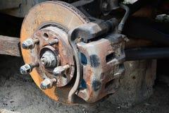Arm- och avbrottsdiskett av en bil Arkivfoton