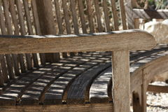 Arm. Old wood Bench. Picture taken in San Antonio Texas on a warm January day Royalty Free Stock Photo