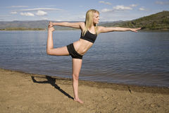 Arm out stretching water Stock Images