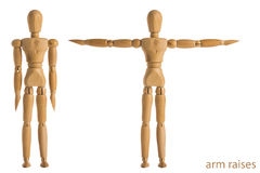 Arm raises exercise pose Royalty Free Stock Image