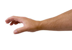 Arm Reaching with Clipping Path Stock Photo