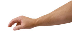 Arm Reaching with clipping path. Male arm reaching isolated with clipping path Royalty Free Stock Photography