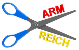 Arm or reich Stock Image