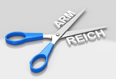 Arm or reich Stock Photos