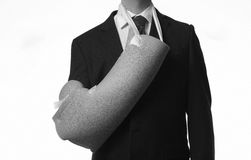 Arm in a sling. Man useing a cory sling Stock Photography