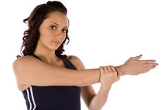 Arm stretch serious Stock Photos