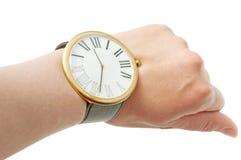 Arm und Uhr Lizenzfreie Stockfotos