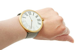 Arm and watch Royalty Free Stock Photos