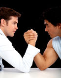 Arm wrestle competition Stock Photo