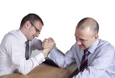 Arm wrestling. In the office Stock Photos