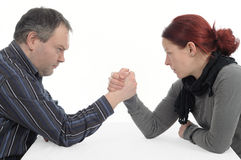 Arm wrestling Stock Images