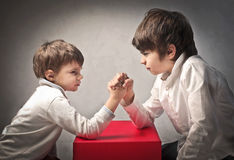 Arm wrestling Stock Photo