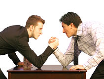Arm wrestling business Royalty Free Stock Image