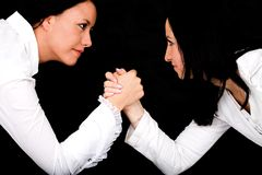Arm wrestling business Royalty Free Stock Photo