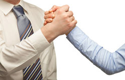 Arm wrestling of business people Royalty Free Stock Photography